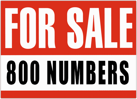 800 numbers for sale