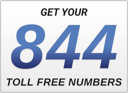 Get an 844 number