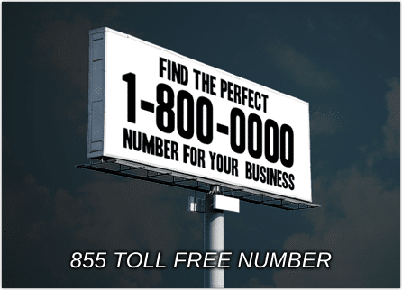 855 toll free numbers