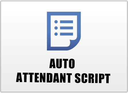 Buy toll free number service purchase 800 numbers for Auto attendant script template
