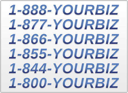 a list of 1-800 phone numbers